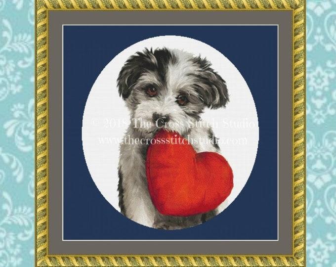 Puppy Love Cross Stitch Pattern
