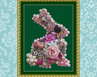 BonBon Bunny Cross Stitch Pattern
