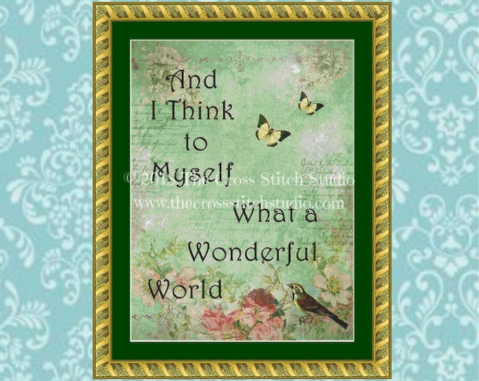 What a Wonderful World Cross Stitch Pattern
