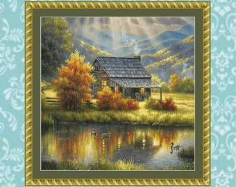 God Shed His Grace Cross Stitch Pattern (Crop #2)