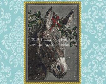 Christmas Donkey Cross Stitch Pattern