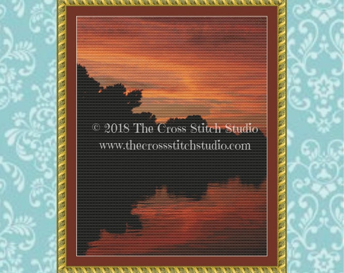 Keweenaw Sunset Cross Stitch Pattern