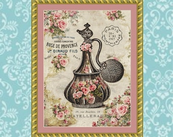 French Perfume Cross Stitch Pattern