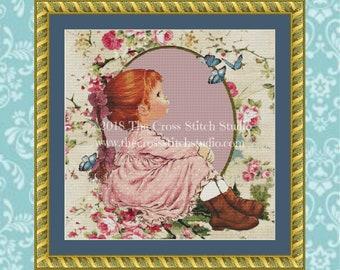 Birth Announcement Cross Stitch Pattern