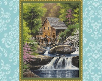 Spring Mill Cross Stitch Pattern LARGE