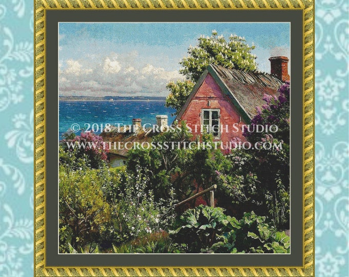 Summer in Aalsgaarde Cross Stitch Pattern SMALL