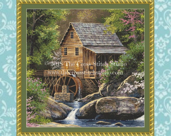 Spring Mill Cross Stitch Pattern SMALL