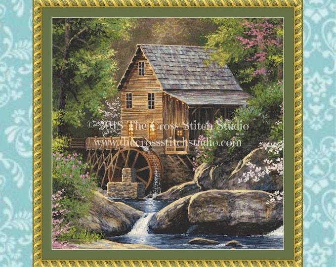 Spring Mill Cross Stitch Pattern ~ SMALL