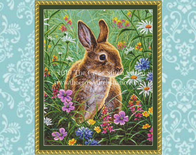 Spring Bunny Cross Stitch Pattern