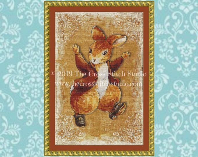 Peter Rabbit Cross Stitch Pattern