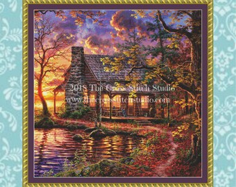 Cabin Cross Stitch Pattern SMALL