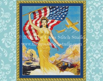 On to Victory Cross Stitch Pattern