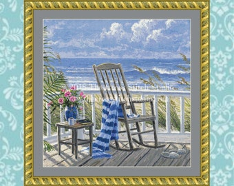 Quiet Time Cross Stitch Pattern SMALL
