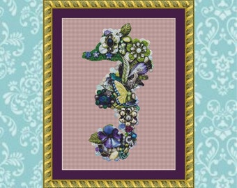 Seaweed Cross Stitch Pattern