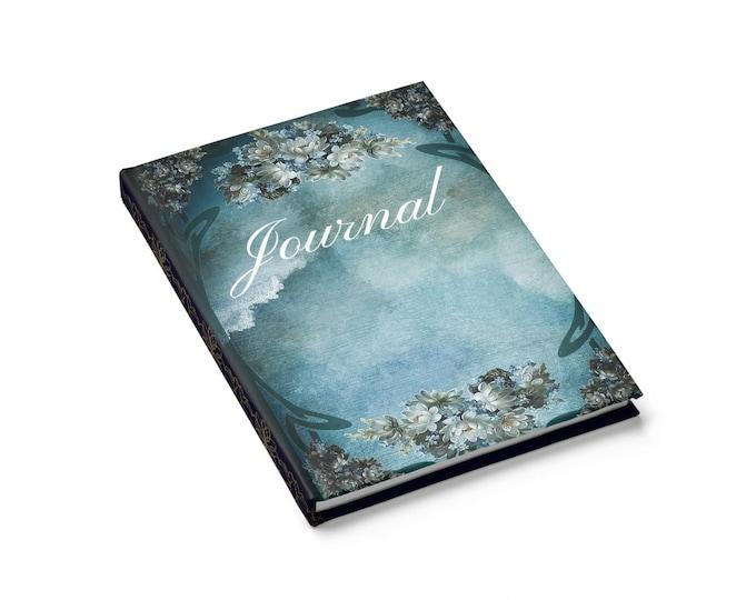 Blue Floral Fantasy Journal