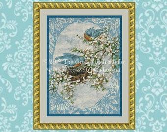 Birds Cross Stitch Pattern, Vintage