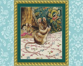 Tailor of Gloucester Cross Stitch Pattern