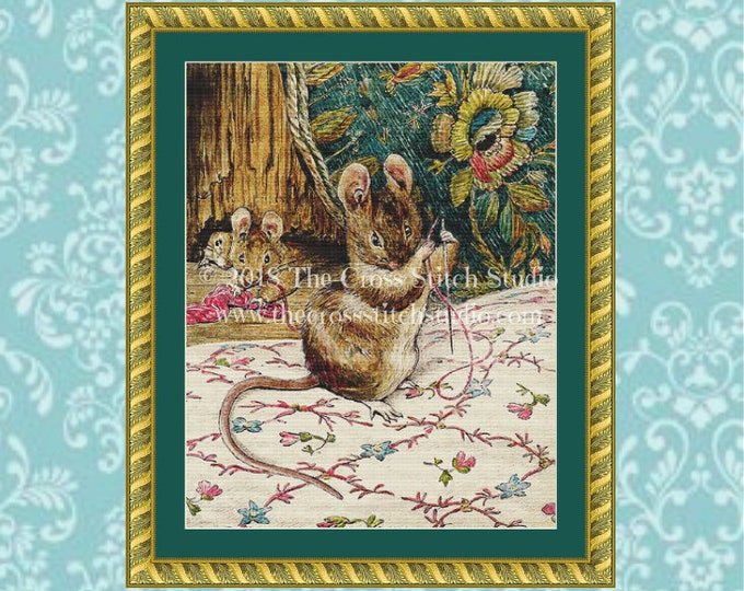 The Tailor of Gloucester Cross Stitch Pattern