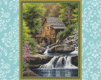Spring Mill Cross Stitch Pattern