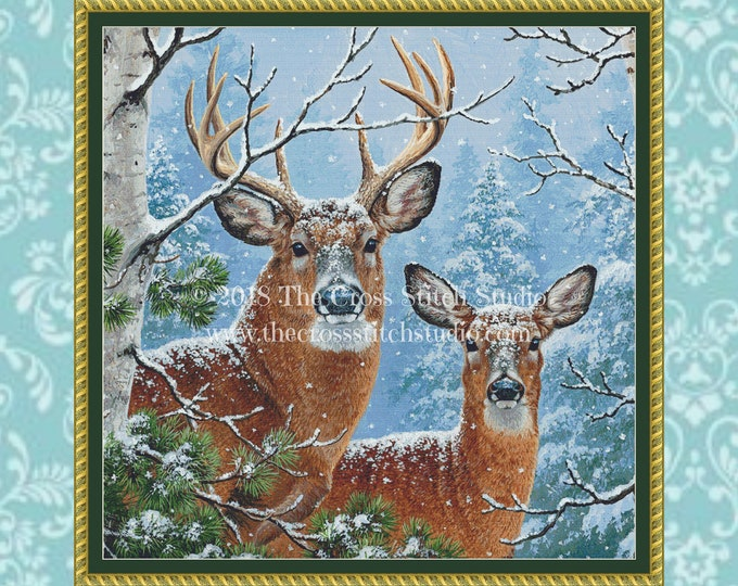 Whitetail Deer Cross Stitch Pattern ~ SMALL