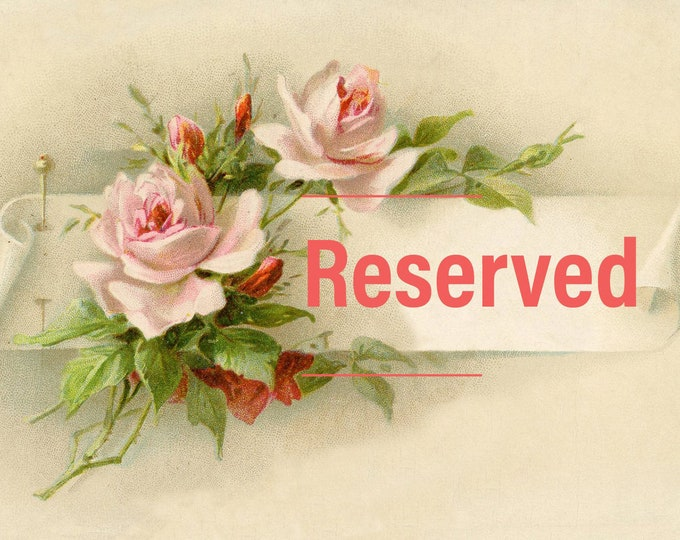 RESERVED ~ Custom Order for Tina M. ~ #3 of 4