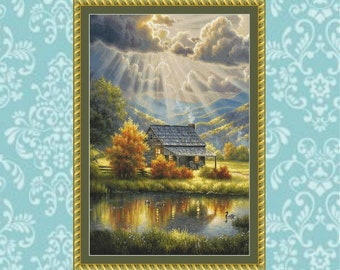God Shed His Grace Cross Stitch Pattern (Crop #1)