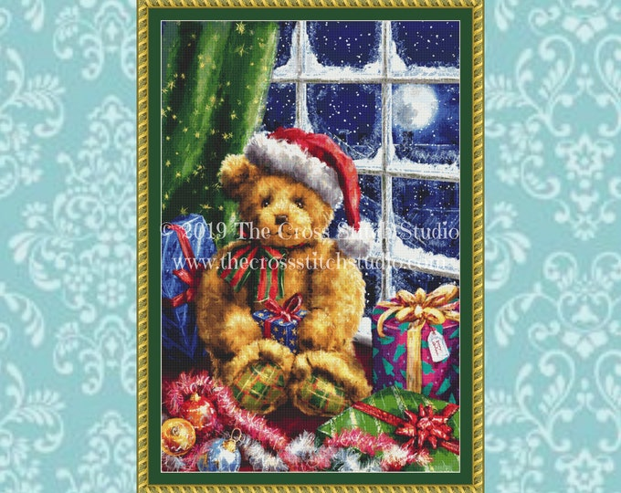 Christmas Teddy Cross Stitch Pattern