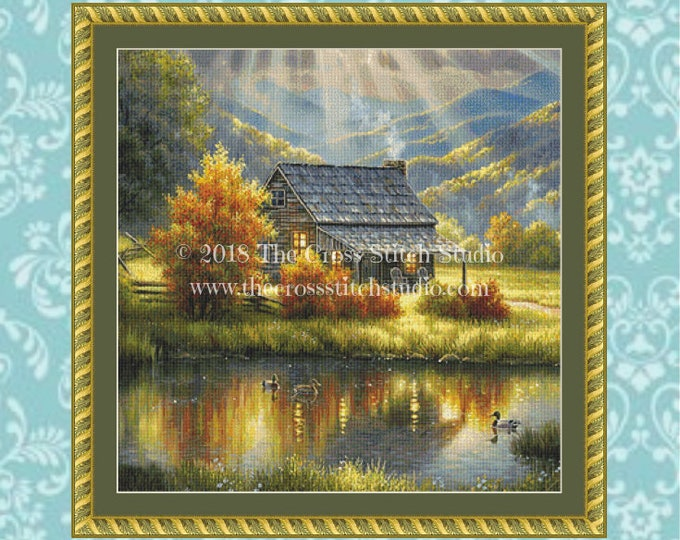 God Shed His Grace Cross Stitch Pattern SMALL