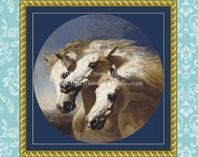Pharaoh's Horses Cross Stitch Pattern