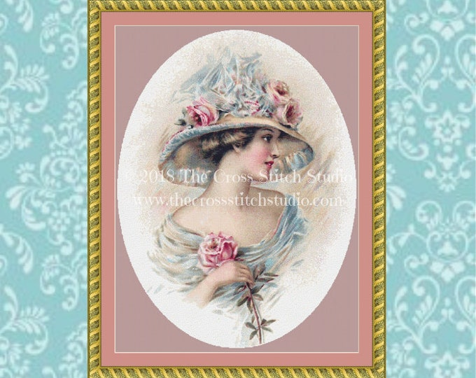 Edwardian Lady Cross Stitch Pattern