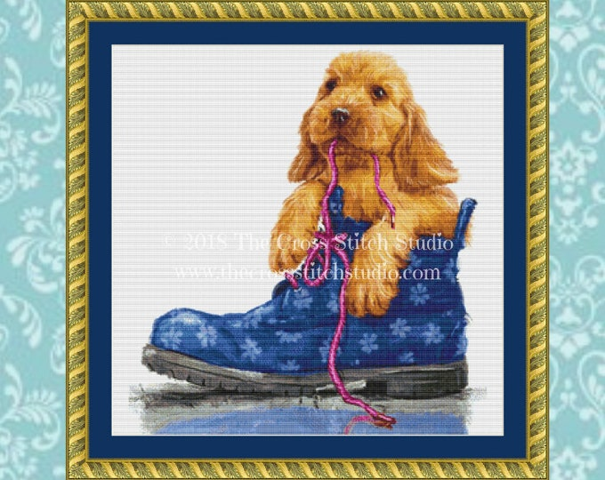 Puppy Chew Toy Cross Stitch Chart