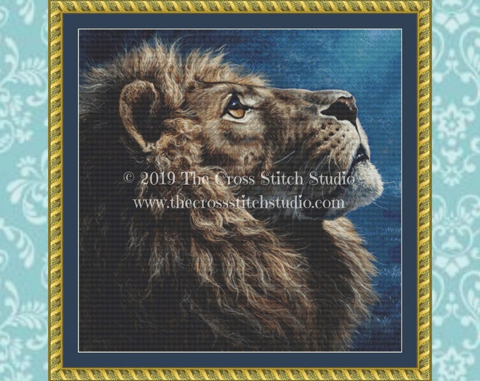 Lion Cross Stitch Pattern ~ SMALL