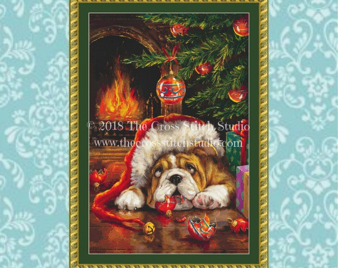 Guilty Puppy Cross Stitch Pattern