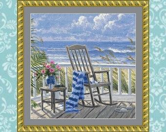 Quiet Time Crop #2 Cross Stitch Pattern