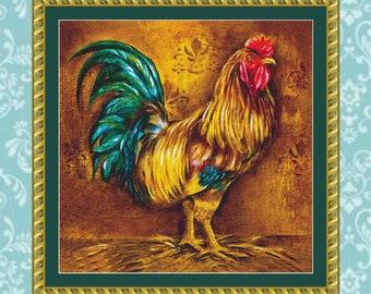 Pop Art Rooster Cross Stitch Pattern