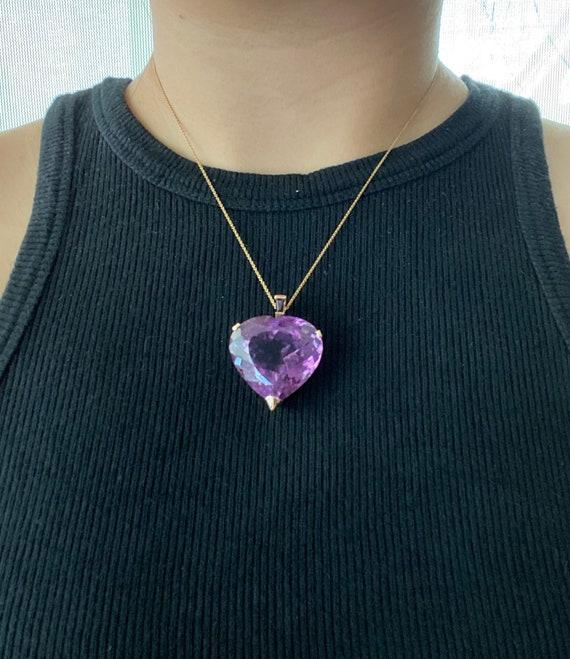 Amethyst Heart Pendant - image 2