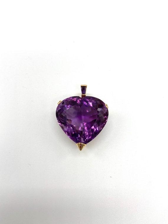 Amethyst Heart Pendant - image 3