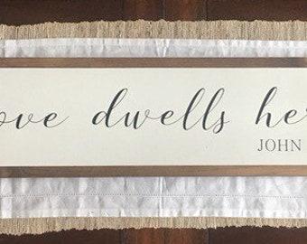 Love dwells here