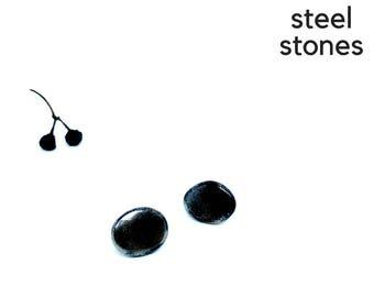 Black stud earrings, Mother's Day Gift, minimalist earrings, daily stud earrings, minimalsist black studs, light stud earrings, light studs