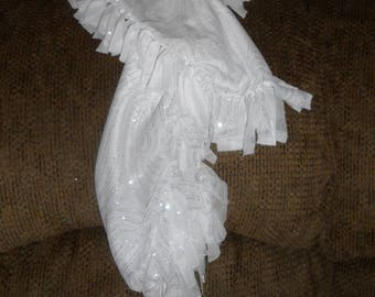 Fairy Dust scarf - white