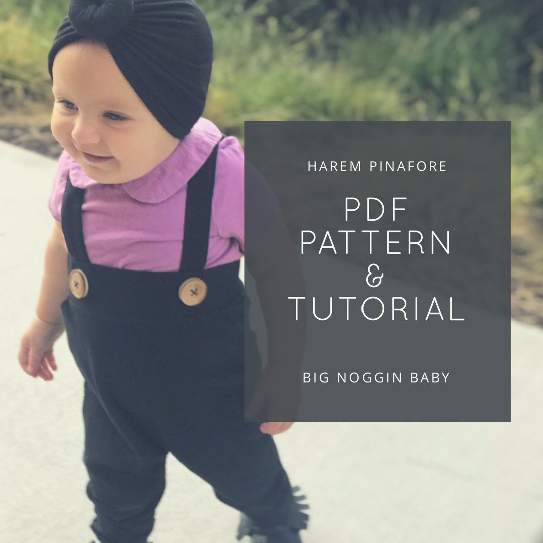 Harem Pinafore Pdf Pattern And Tutorial Joggers Overall Etsy
