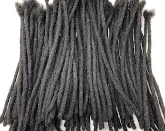 "100% Human Hair Afro Kinky Dreadlocks Extensions Handmade Medium 1/4"" Width Pencil Sized Various Lengths - 25 LOCS"