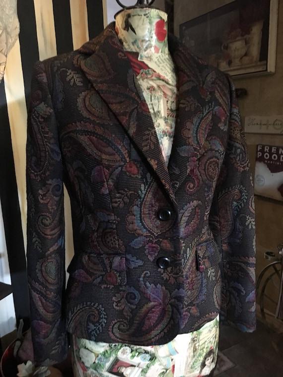 Paisley Tapestry Blazer - image 1