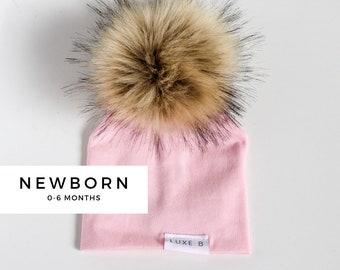 f3d6dce1fa5b Newborn Baby Pom Pom Beanie Winter Hat