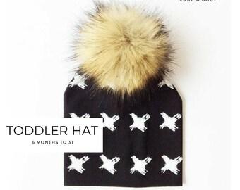 00527ed6a5b LUXE B Baby Pom Pom Beanie Hat