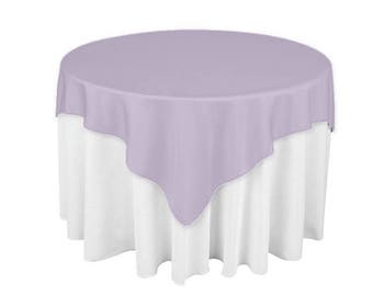 Merveilleux Lilac 60 X 60 Square Overlay 100% Woven Polyester Tablecloth For Banquets,  Weddings U0026 Parties