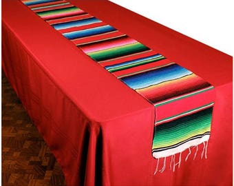 Delightful Serape Table Runner   Mexican Table Runner For Weddings U0026 Parties