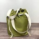 Black Friday Sale 2 Handle Knitting Crochet Project Bag AVOCADO Canvas Drawstring Bag- 21 colors available