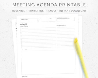 meeting notes etsy