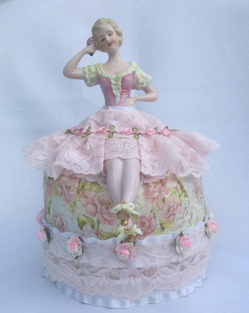 Vintage German Half Doll with Legs, Traditional German Dress Pincushion  Removable Garments